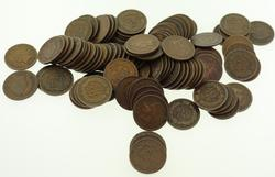 100 Assorted Full Rim Plus Indian Cents Unsearched
