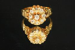 Vintage 14k Gold & Diamond Ring