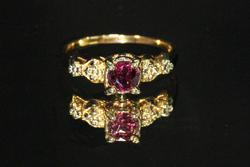 Romantic Ruby Ring in 14k