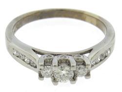 Beautiful White Gold .50ctw Stone Diamond & Channel Set