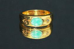 Natural Emerald Ring in Vermeil
