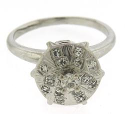 Fantastic White Gold Diamond Cluster Ring