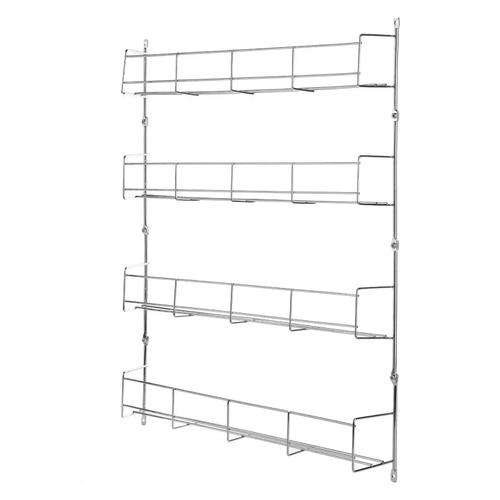 4 Tiers Kitchen Spice Jar Rack Cabinet Wall Mount