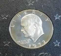 1972 Silver (40%) PROOF Eisenhower Dol  (Brown Ike)