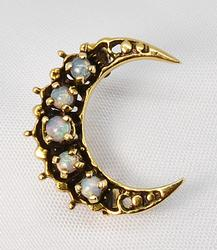 Sweet Crescent Opal Brooch