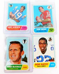 4 Topps 1968 Football Greats Cards
