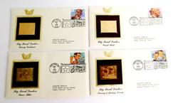 4 Big Band 1st Day Covers & 22KT Gold Stamps