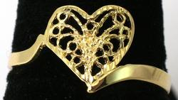 14KT Yellow Gold Filigree Heart Ring