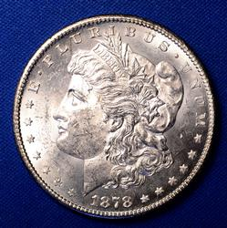 1878-S  Morgan Silver Dollar, BU