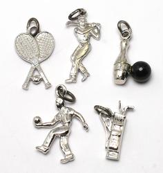 Lot of Sterling Silver Sport Charms