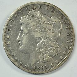 Scarce 1891-CC Morgan Silver Dollar. Better date