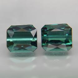 Captivating 1.64ct set of blue green Tourmaline