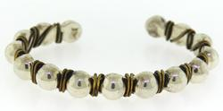 Sterling Silver Ball Bangle Bracelet