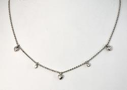 Charming Diamond Necklace in 14K White Gold