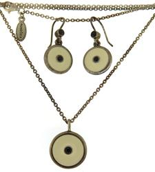 Pandora Enamel Necklace and Earring Set