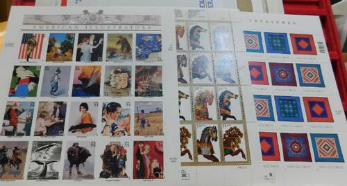 Stamp Sheets, Art Stamps $20.00 face