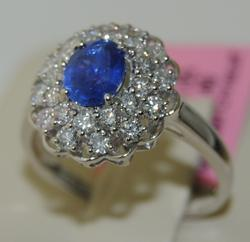 Breathtaking 18kt Sapphire and Diamond Ring