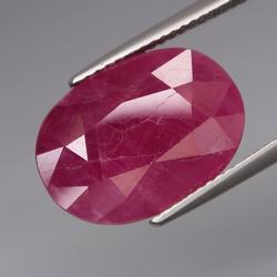 Unheated! 13.62ct top reddish pink Lichinga Ruby