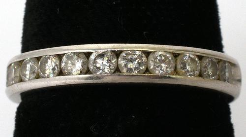 14KT White Gold 0.50CTW Diamond Band Ring, Size 4 3/4