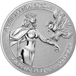 2020 1 Kilo Germania Silver Coin 80 Mark