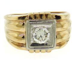 Gent's .60ct Round Brilliant Cut Diamond Ring