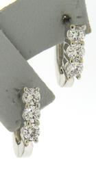Charming White Gold Diamond Huggies