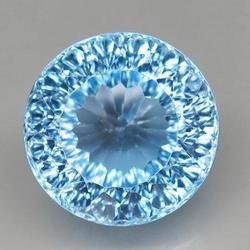 3.55 Carat Natural Sky Blue Topaz Solitaire Gemstone