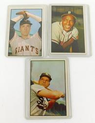 3 Bowman 1950's Baseball Cards