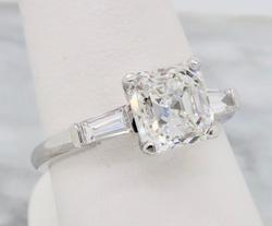 GIA Certified 2.10CTW Diamond Engagement Ring