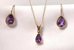 Amethyst Earring and Pendant Suite