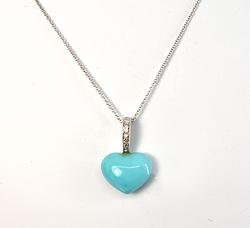Attractive Turquoise Heart Pendant