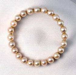 Classic 14k Pearl Circle Brooch