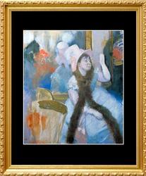 Edgar Degas, Woman In A Rose Hat