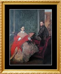 Edgar Degas, Edmondo And Therese Morbilli