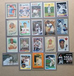 Collection Of 20 Baseball Cards,  All Hall Of Fame Members