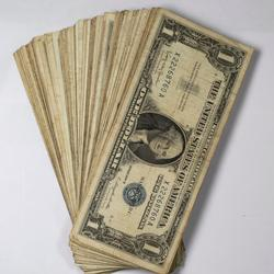 100 Assorted  $ 1 Silver Certificates  1957 Series