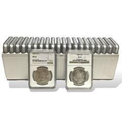(20) 1878-1904 $1 Morgan Silver Dollar NGC MS64