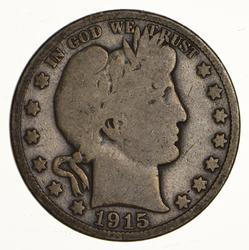 1915 Barber Half Dollar - Circulated
