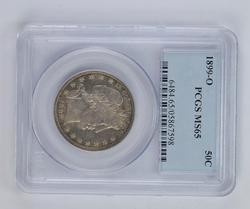 MS65 1899-O Barber Half Dollar - PCGS Graded