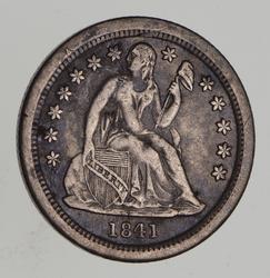 1841-O Seated Liberty Silver Dime - Circulated