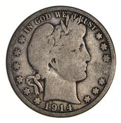 1914 Barber Half Dollar - Circulated