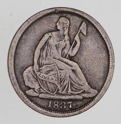 1837 Seated Liberty Half Dime - Circulated