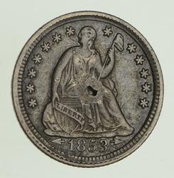 1853 Seated Liberty Half Dime - Circulated