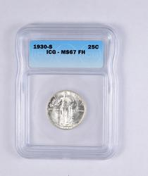 MS67 FH 1930-S Standing Liberty Quarter - Graded ICG