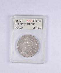 AU50 1812 Capped Bust Half Dollar - Graded ACG