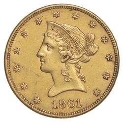 1861 $10.00 Liberty Head Gold Eagle