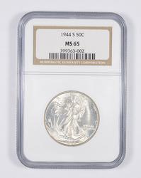 MS65 1944-S Walking Liberty Half Dollar - Graded NGC