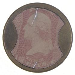 George Washington 3 Cents U.S. Encased Postage Ayers