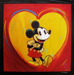 Hand Signed Simon Bull Mickey Mouse