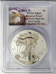 2013-W Certified Silver Eagle PR69 PCGS Reverse Proof